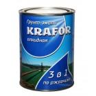 """Грунт- эмаль по ржавчине белая  1 кг (14) """"Krafor"""""""