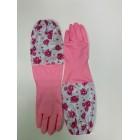 Перчатки ГАРДЕК латексные с удлин. манжетами (розовые) L